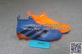 Adidas ACE 16+ PureControl soccer boots blue orange